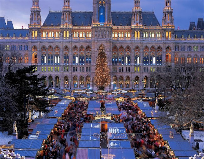 Christmas Market In Front Of The Vienna City Hall C Austrian Tourist Office