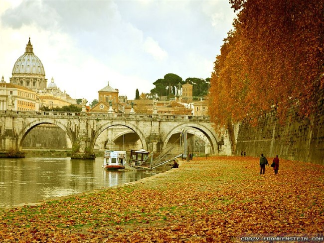 Rome Autumn In Italy Wallpapers 1024X768