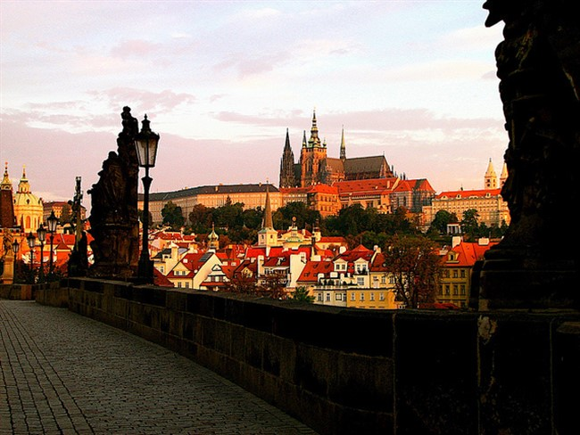 Warm Fall Light In Prague